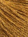 Fiber Content 7% Viscose, 56% Metallic Lurex, 20% Acrylic, 17% Wool, Brand Ice Yarns, Gold, fnt2-67963