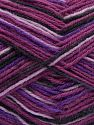 Περιεχόμενο ίνας 75% Superwash Wool, 25% Πολυαμίδη, Purple Shades, Pink, Brand Ice Yarns, Black, fnt2-68185