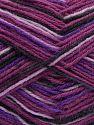 Contenido de fibra 75% Superwash Wool, 25% Poliamida, Purple Shades, Pink, Brand Ice Yarns, Black, fnt2-68185