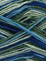 Fiber Content 75% Superwash Wool, 25% Polyamide, Brand Ice Yarns, Green Shades, Blue Shades, fnt2-68199