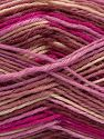 Fiber Content 75% Superwash Wool, 25% Polyamide, Rose Brown, Pink Shades, Brand Ice Yarns, Cream, fnt2-68200