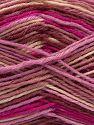 Contenido de fibra 75% Superwash Wool, 25% Poliamida, Rose Brown, Pink Shades, Brand Ice Yarns, Cream, fnt2-68200