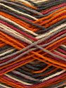 Fiber Content 75% Superwash Wool, 25% Polyamide, Red, Orange, Brand Ice Yarns, Grey Shades, Cream, fnt2-68201