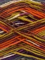 Fiber Content 75% Superwash Wool, 25% Polyamide, Orange, Olive Green, Lilac, Brand Ice Yarns, Grey, Brown, fnt2-68202