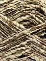 Fiber Content 7% Metallic Lurex, 58% Cotton, 35% Polyester, Khaki, Brand Ice Yarns, Cream, Brown, Black, fnt2-68398