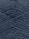 Fiber Content 88% Cotton, 12% Metallic Lurex, Brand Ice Yarns, Dark Grey, fnt2-68489