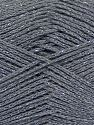 Fiber Content 88% Cotton, 12% Metallic Lurex, Brand Ice Yarns, Grey, fnt2-68490