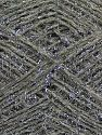 Fiber Content 40% Acrylic, 25% Metallic Lurex, 20% Polyester, 15% Wool, Silver, Brand Ice Yarns, Grey, fnt2-68598