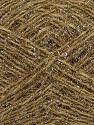Fiber Content 40% Acrylic, 25% Metallic Lurex, 20% Polyester, 15% Wool, Brand Ice Yarns, Gold, Cream, fnt2-68599