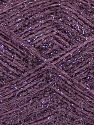 Fiber Content 75% Polyester, 25% Metallic Lurex, Lilac, Brand Ice Yarns, fnt2-68601