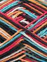 Fiber Content 100% Acrylic, White, Turquoise, Salmon, Orange, Brand Ice Yarns, Black, fnt2-68626