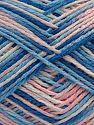 İçerik 100% Akrilik, White, Light Pink, Brand Ice Yarns, Blue Shades, fnt2-68627