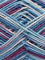 Fiber Content 100% Acrylic, White, Orchid, Brand Ice Yarns, Blue Shades, fnt2-68628