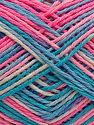 Fiber Content 100% Acrylic, Turquoise Shades, Pink Shades, Brand Ice Yarns, fnt2-68629
