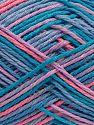 Fiber Content 100% Acrylic, Turquoise Shades, Salmon, Lilac, Brand Ice Yarns, fnt2-68630