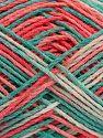 Fiber Content 100% Acrylic, White, Salmon Shades, Mint Green, Brand Ice Yarns, fnt2-68635