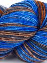 Please note that this is a hand-dyed yarn. Colors in different lots may vary because of the charateristics of the yarn. Also see the package photos for the colorway in full; as skein photos may not show all colors. İçerik 75% Superwash Merino Wool, 25% Polyamid, Brand Ice Yarns, Brown Shades, Blue Shades, fnt2-68863