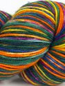 Please note that this is a hand-dyed yarn. Colors in different lots may vary because of the charateristics of the yarn. Also see the package photos for the colorway in full; as skein photos may not show all colors. Fiber Content 75% Superwash Merino Wool, 25% Polyamide, Yellow, Purple, Orange, Brand Ice Yarns, Green, Gold, Fuchsia, fnt2-68871