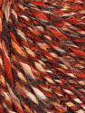 Fiber Content 50% Wool, 30% Acrylic, 20% Alpaca, Orange, Khaki, Brand Ice Yarns, Cream, fnt2-68945
