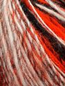 Fiber Content 50% Wool, 30% Acrylic, 20% Alpaca, White, Neon Orange, Brand Ice Yarns, Grey, Black, fnt2-69496