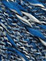 Fiber Content 75% Acrylic, 13% Polyester, 12% Wool, White, Brand Ice Yarns, Blue, Black, fnt2-70070