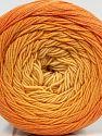 Fiber Content 55% Organic Cotton, 45% Acrylic, Orange Shades, Brand Ice Yarns, fnt2-70136