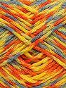 Fiber Content 60% Acrylic, 40% Wool, Yellow, Orange, Light Blue, Brand Ice Yarns, Green, fnt2-70169