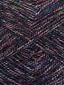 Fiber Content 8% Polyester, 50% Cotton, 30% Acrylic, 12% Metallic Lurex, Pink, Navy, Brand Ice Yarns, Cream, Blue, fnt2-70436