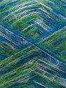 Fiber Content 73% Acrylic, 16% Wool, 10% Polyamide, 1% Elastan, White, Brand Ice Yarns, Green, Blue, fnt2-70447