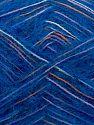 Fiber Content 73% Acrylic, 16% Wool, 10% Polyamide, 1% Elastan, White, Saxe Blue, Orange, Lilac, Brand Ice Yarns, fnt2-70448