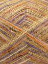 Fiber Content 73% Acrylic, 16% Wool, 10% Polyamide, 1% Elastan, White, Orange, Milky Brown, Lilac, Brand Ice Yarns, fnt2-70451
