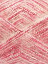 Fiber Content 64% Acrylic, 5% Metallic Lurex, 20% Wool, 10% Polyamide, 1% Elastan, White, Silver, Pink, Brand Ice Yarns, fnt2-70460