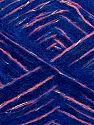 Fiber Content 64% Acrylic, 5% Metallic Lurex, 20% Wool, 10% Polyamide, 1% Elastan, Silver, Saxe Blue, Pink, Brand Ice Yarns, fnt2-70464