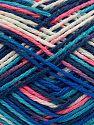 Contenido de fibra 100% Acrílico, Pink Shades, Brand Ice Yarns, Blue Shades, fnt2-70707