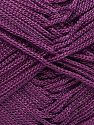 Width is 2-3 mm Fiber Content 100% Polyester, Purple, Brand Ice Yarns, fnt2-70717