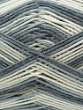 Fiber Content 50% Acrylic, 50% Cotton, White, Brand Ice Yarns, Grey, Blue Shades, Yarn Thickness 2 Fine Sport, Baby, fnt2-71256