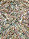 Fiber Content 75% Polyester, 25% Metallic Lurex, Light Grey, Brand Ice Yarns, fnt2-71344