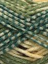 Contenido de fibra 50% Acrílico, 40% Lana, 10% Viscosa, White, Oil Green, Light Green, Brand Ice Yarns, Brown, fnt2-71510