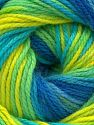 Contenido de fibra 100% Acrílico, Turquoise, Brand Ice Yarns, Green Shades, Blue Shades, fnt2-71514
