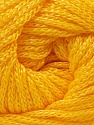 Width is 3 mm Fiber Content 100% Polyester, Yellow, Brand Ice Yarns, fnt2-21649