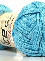 A beautiful new scarf yarn. One ball is enough to make a beautiful scarf. Knitting instructions are included! Fiber Content 95% Acrylic, 5% Lurex, Light Blue, Brand Ice Yarns, Yarn Thickness 6 SuperBulky Bulky, Roving, fnt2-22012