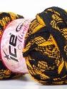 İçerik 100% Akrilik, Brand Ice Yarns, Dark Yellow, Black, Yarn Thickness 6 SuperBulky Bulky, Roving, fnt2-25157