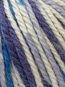 Fiber Content 40% Acrylic, 35% Wool, 25% Alpaca, White, Purple, Brand Ice Yarns, Blue, Yarn Thickness 5 Bulky Chunky, Craft, Rug, fnt2-25420