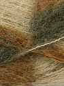 Fiber Content 70% Mohair, 30% Acrylic, Brand Ice Yarns, Green Shades, Cream, Yarn Thickness 3 Light  DK, Light, Worsted, fnt2-35065