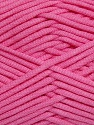 This is a tube-like yarn with soft fleece inside. İçerik 73% Viskon, 27% Polyester, Pink, Brand Ice Yarns, Yarn Thickness 5 Bulky Chunky, Craft, Rug, fnt2-35610