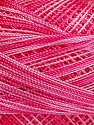 Fiber Content 100% Micro Fiber, Pink Shades, Brand Ice Yarns, Yarn Thickness 0 Lace  Fingering Crochet Thread, fnt2-40206