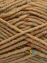 Fiber Content 72% Acrylic, 3% Viscose, 25% Wool, Latte, Brand Ice Yarns, Yarn Thickness 6 SuperBulky  Bulky, Roving, fnt2-40837