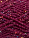 Fiber Content 72% Acrylic, 3% Viscose, 25% Wool, Brand Ice Yarns, Burgundy, Yarn Thickness 6 SuperBulky  Bulky, Roving, fnt2-40843