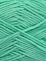 Fiber Content 50% Bamboo, 50% Cotton, Mint Green, Brand Ice Yarns, Yarn Thickness 2 Fine  Sport, Baby, fnt2-41446