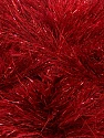 Fiber Content 75% Polyester, 25% Metallic Lurex, Brand Ice Yarns, Dark Red, Yarn Thickness 5 Bulky Chunky, Craft, Rug, fnt2-42265